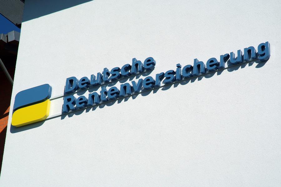 Logo und Schriftzug der Deutschen Rentenversicherung