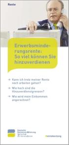 """Titelbild der Broschüre """"Erwerbsminderungsrentner: So viel können Sie hinzuverdienen"""""""